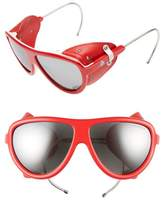 Moncler 57mm Mirrored Shield Sunglasses