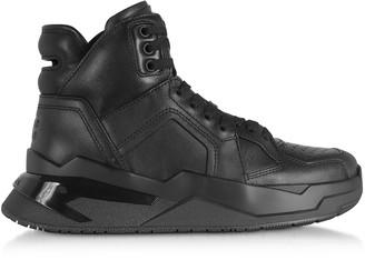 Balmain Black B-Ball Calfskin Leather Sneakers