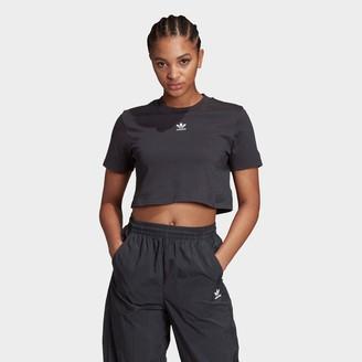 adidas Women's Trefoil Essentials Cropped T-Shirt