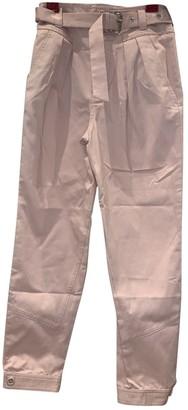 Paul & Joe Pink Cotton Trousers for Women