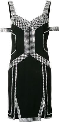 Philipp Plein embellished trim dress