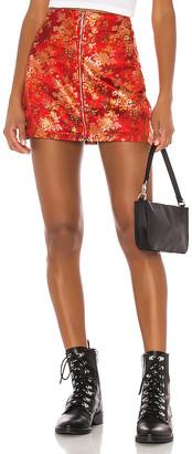 superdown Macey Zip Mini Skirt