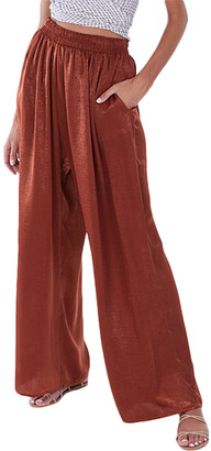 Allison New York Women's Dress Pants Cinnamon - Cinnamon Pocket Palazzo Pants - Women
