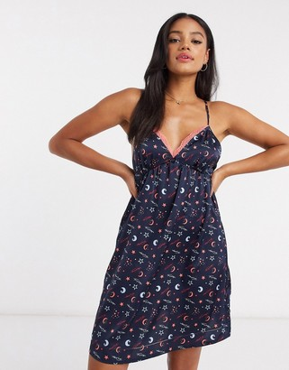Tommy Hilfiger loungewear all over print cami dress in navy