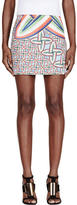 Peter Pilotto Blue and Red Printed Mini Skirt