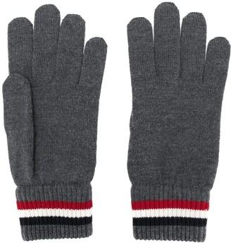 Moncler striped edge gloves