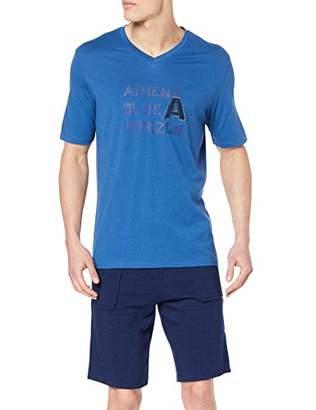 Athena Men's Indigo Pyjama Set,(Size: 4)