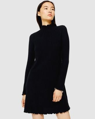 Topshop Cut and Sew Shirred Mini Dress