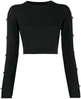 Versace buttoned sleeve jumper