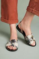 Anthropologie Leather Slingback Sandals