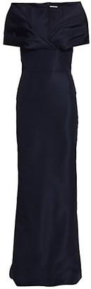 Catherine Regehr Ava Off-The-Shoulder Silk Gown