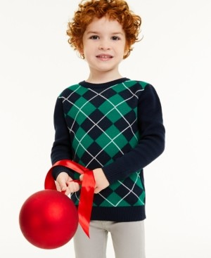 Charter Club Toddler Boys Argyle Sweater, Created for Macy's