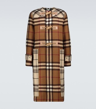 Burberry Contrast checked duffel coat