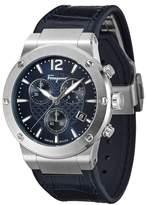 Salvatore Ferragamo F80 Chronograph Leather Strap Watch, 44mm