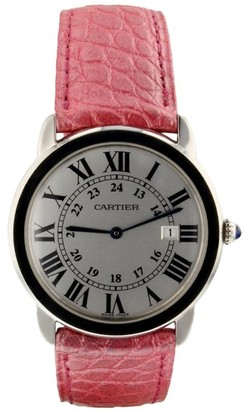 Cartier 2010 pre-owned Ronde Solo Steel 36mm