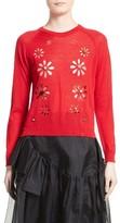Simone Rocha Women's Simon Rocha Beaded Flower Sweater