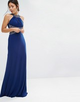 Forever Unique Madaline Maxi Dress with Embelished Waist and Neckline