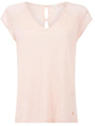 Des Petits Hauts Klea Rose T Shirt - Size 0 UK6