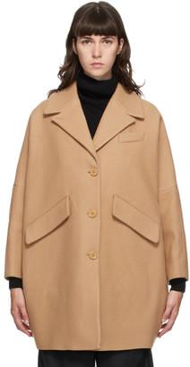 MM6 MAISON MARGIELA Tan Wool Oversized Coat