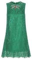 Dolce & Gabbana Embellished Cotton-blend Lace Mini Dress