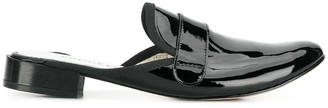 Repetto Patent Penny Loafer Mules