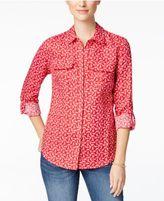 Charter Club Linen Anchor-Print Shirt, Only at Macy's