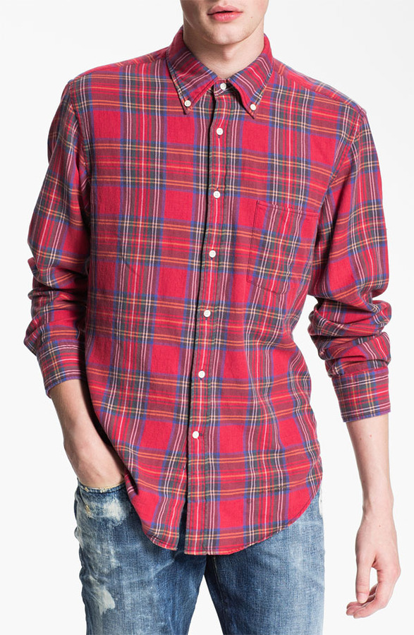 Gant 'Tinkering' Twill Plaid Shirt