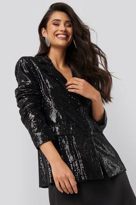 NA-KD Sequin Blazer Black