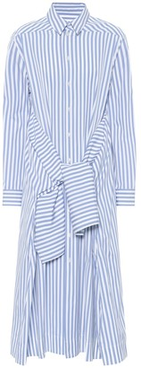 Jil Sander Striped cotton midi shirt dress