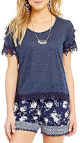 Takara Crochet Trim Short-Sleeve Tee