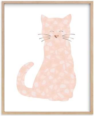 Pottery Barn Kids Terazzo Kitten Wall Art by Minted®, 8x10, Black