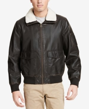 Dockers Faux-Leather Aviator Jacket
