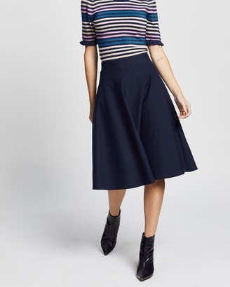 Review Women's Midi Skirts - Taylor Skater Ponte Skirt - Size One Size, 8 at The Iconic
