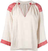 Mes Demoiselles embroidered blouse - women - Cotton - 36