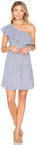 J.o.a. One Shoulder Stripe Mini Dress in Blue. - size S (also in )