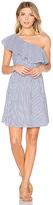 J.o.a. One Shoulder Stripe Mini Dress