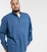 Sebaby Mens Twill Button Down Regular-Fit Big and Tall Western Shirt