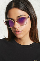 Forever 21 Cat Eye Cutout Sunglasses