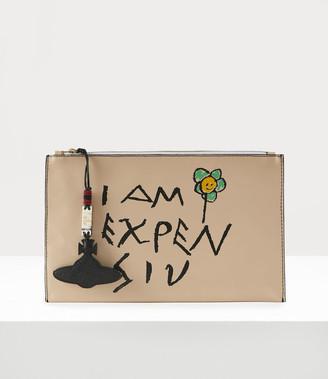 Vivienne Westwood I Am Expensiv Pouch Beige