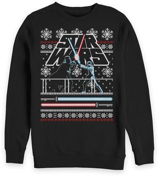 Disney Luke Skywalker and Darth Vader Holiday Sweatshirt for Adults