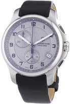 Victorinox Men's 241553.2 Leather Officers Quartz Analog Chronograph Dial Watch