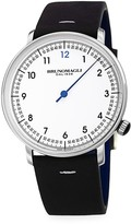 Bruno Magli One-Hand Stainless Steel & Leather-Strap Watch
