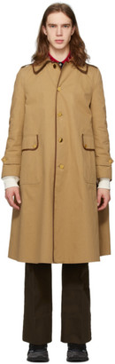 Gucci Tan Cotton Drill Trench Coat