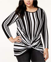 INC International Concepts I.N.C. Plus Size Twist-Front Tunic, Created for Macy's