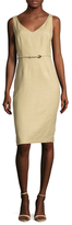 Max Mara Gavino Belted Sheath Dress