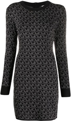 MICHAEL Michael Kors Monogram-Logo Knitted Dress