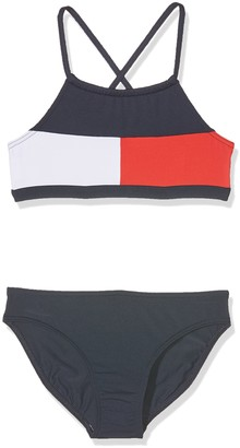 Tommy Hilfiger Girl's Flag Rwb Bikini Set