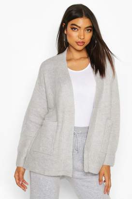 boohoo Tall Soft Knit Edge to Edge Cardigan