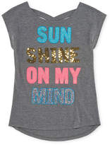 Arizona Short Sleeve Sequin Graphic Tee - Girls' 4-16 & Plus