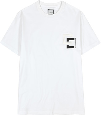 Wooyoungmi White logo cotton T-shirt